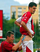 Fotball<br /> Tyskland 2004/05<br /> Treningskamp<br /> OEFB Challenge Future Team v Stuttgart<br /> Kufstein v Østerrike<br /> 18. juli 2004<br /> Foto: Digitalsport<br /> NORWAY ONLY<br /> Paul Scharner (AUT)