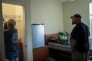 Kylee and Ernie from Washington Oklahoma.<br /> <br /> Freshmen Move-in day at CASNR Village<br /> College of Agricultural Science and Natural Resources Freshmen in the Freshmen in Transition housing where incoming freshmen are supported by upper class students to aid in their first year of college life.