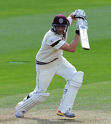 Somerset's Josh Davey hits the ball. Photo mandatory by-line: Harry Trump/JMP - Mobile: 07966 386802 - 09/05/15 - SPORT - CRICKET - Somerset v New Zealand - Day 2- The County Ground, Taunton, England.
