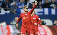 0:1 Jubel Torschuetze Timo Werner (Leipzig)<br /> Gelsenkirchen, 23.04.2017, Fussball, Bundesliga, FC Schalke 04 - RB Leipzig<br /> <br /> Norway only
