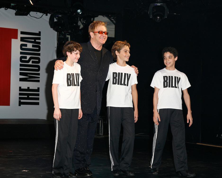 Billy Elliot,.with Elton John.Credit Photo: Peter Lueders/©Paul Kolnik Studio