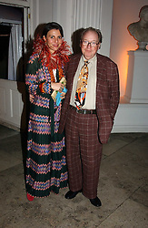 A party hosted by Mario Testino, Bianca Jagger and Kenneth Cole in collaboration with UNFPA and Marie Stopes International to celebrate the publication of Women to Woman: Positively Speaking - a book to raise awareness of women living with HIV/Aids, held at The Orangery, Kensington Palace, London on 2nd December 2004.<br />Picture shows:-LORD & LADY MCALPINE.<br /><br /><br />NON EXCLUSIVE - WORLD RIGHTS