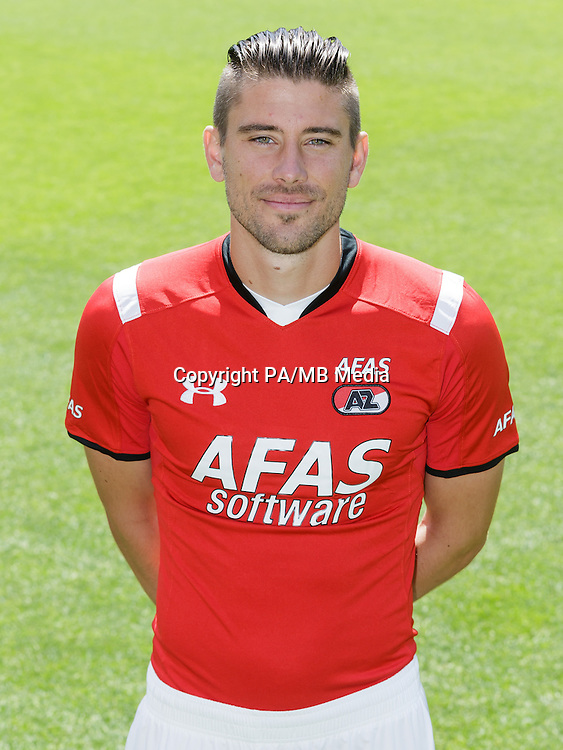 Jan Wuytens during the team photocall of AZ Alkmaar on July 17, 2015 at Afas Stadium in Alkmaar, The Netherlands