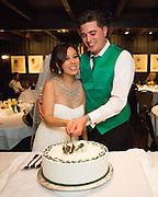 Melissa and Jordan Bencomo celebrate their wedding with family and friends at Washoe Steakhouse in Reno, Nevada, on April 5, 2014. (Stan Olszewski/SOSKIphoto)
