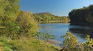 Delaware River, Fall colors, Delaware Water Gap National Recreation Area, Pennsylvania, USA
