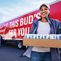 Disaster Relief for flood Victims. Budweiser Super Bowl commercial. This Budweiser plaint produces canned water and delivers it to people in need.<br /> Stills and B-Unit video on this campaign.
