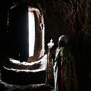 A priest at Bet Denaghel, one of Lalibela's 11 stone churches.