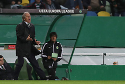 April 12, 2018 - Lisbon, Portugal - Sporting's head coach Jorge Jesus from Portugal gestures during the UEFA Europa League second leg football match Sporting CP vs Atletico Madrid at Alvalade stadium in Lisbon, on April 12, 2018. (Credit Image: © Pedro Fiuza/NurPhoto via ZUMA Press)