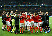Wales celebrating the victory. esultanza vittoria<br /> Lille 01-07-2016 Stade Pierre Mauroy Football Euro2016 Wales - Belgium / Galles - Belgio <br /> Quarter-finals. Foto Matteo Ciambelli / Insidefoto