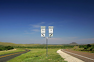Highways 166 and 118 diverge in Jeff Davis County in far West Texas.