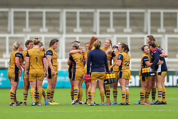 Bristol Ladies celebrate victory - Rogan Thomson/JMP - 08/10/2016 - RUGBY UNION - Kingston Park - Newcastle, England - Darlington Mowden Park Sharks v Bristol Ladies Rugby - RFU Women's Premiership.