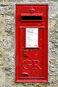 Wall Mounted Post-Box with cypher GR for the reign of King George, England