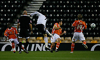 Photo: Steve Bond.<br />Derby County v Blackpool. Carling Cup. 28/08/2007. David Jones (C) tries a long range effort