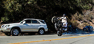 """Motorcycles and performance cars navigating """"The Snake"""" on Mullholland Hightway, Agoura Hills, Ca"""