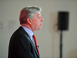 Pictured: Richard Leonard speaks at the rally.<br /> <br /> Former Prime Minister Gordon Brown joined Scottish Labour leader Richard Leonard and candidates at a campaign rally in Glasgow.<br /> <br /> © Dave Johnston / EEm
