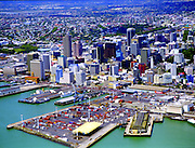 Aerial views of Auckland and Bay of Island areas of New Zealand
