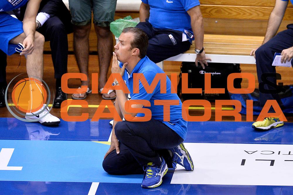 DESCRIZIONE : Trieste Nazionale Italia Uomini Torneo internazionale Italia Canada Italy Canada<br /> GIOCATORE : Simone Pianigiani<br /> CATEGORIA : Delusione<br /> SQUADRA : Italia Italy<br /> EVENTO : Torneo Internazionale Trieste<br /> GARA : Italia Canada Italy Canada<br /> DATA : 03/08/2014<br /> SPORT : Pallacanestro<br /> AUTORE : Agenzia Ciamillo-Castoria/Max.Ceretti<br /> Galleria : FIP Nazionali 2014<br /> Fotonotizia : Trieste Nazionale Italia Uomini Torneo internazionale Italia Canada Italy Canada
