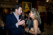 MARIO TAVELLA; ALESSANDRA ROSSI,  Preview party for the Versace Sale.  The contents of fashion designer Gianni Versace's villa on Lake Como. Sothebys. Old Bond St. London. 16 March 2009.  *** Local Caption *** -DO NOT ARCHIVE -Copyright Photograph by Dafydd Jones. 248 Clapham Rd. London SW9 0PZ. Tel 0207 820 0771. www.dafjones.com<br /> MARIO TAVELLA; ALESSANDRA ROSSI,  Preview party for the Versace Sale.  The contents of fashion designer Gianni Versace's villa on Lake Como. Sothebys. Old Bond St. London. 16 March 2009.