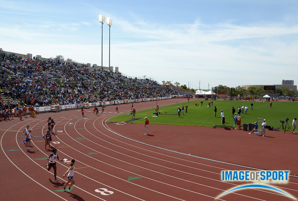 Mar 29, 2014; Austin, TX, USA; General view of the 87th Clyde Littlefield Texas Relays at Mike A. Myers Stadium.
