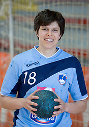 Portrait of Maja Breznik of Slovenian Handball Women National Team, on June 3, 2009, in Arena Kodeljevo, Ljubljana, Slovenia. (Photo by Vid Ponikvar / Sportida)