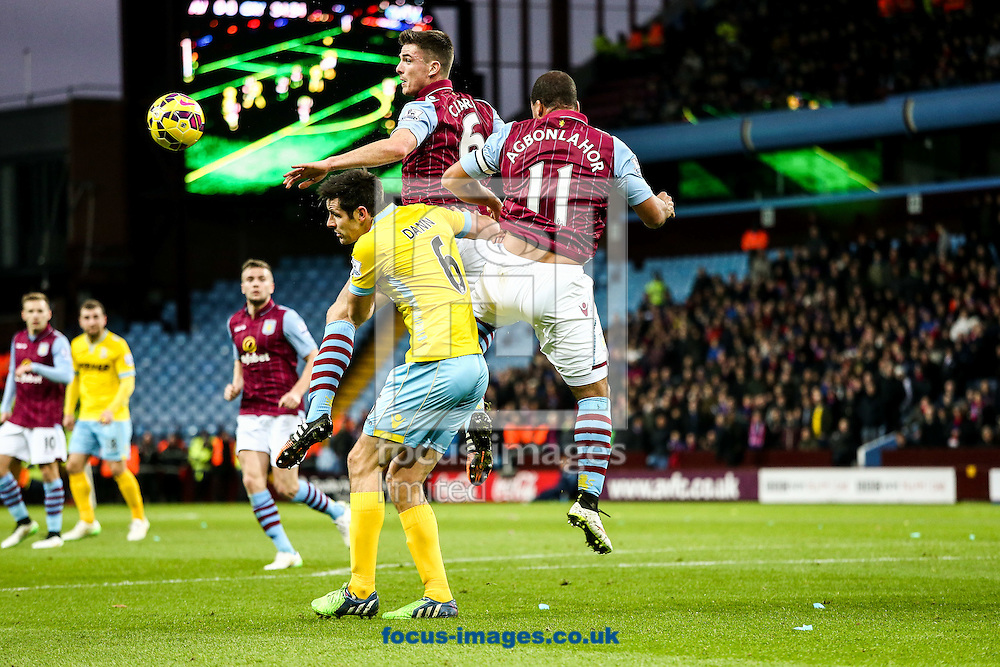 during the Barclays Premier League match at Villa Park, Birmingham<br /> Picture by Andy Kearns/Focus Images Ltd 0781 864 4264<br /> 01/01/2015