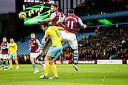 during the Barclays Premier League match at Villa Park, Birmingham<br /> Picture by Andy Kearns/Focus Images Ltd 0781 864 4264<br /> 01/01/2015