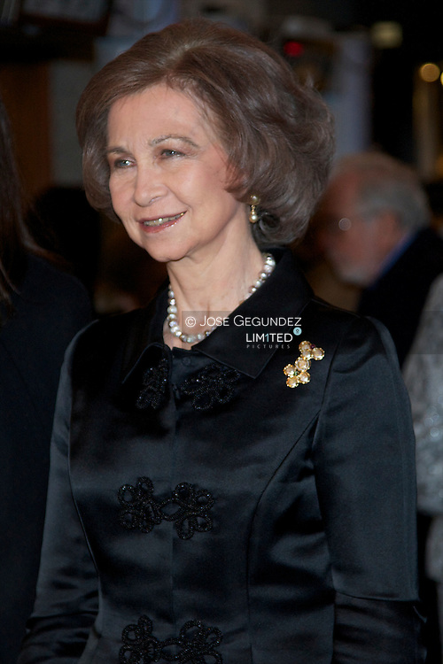 Queen Sofia of Spain attends the Placido Domingo's 70th birthday gala at Teatro Real in Madrid