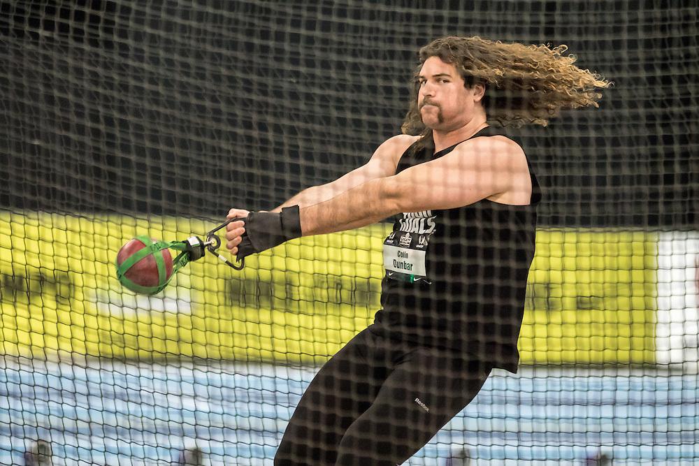 USATF Indoor Track & Field Championships: mens weight throw, Colin Dunbar