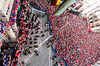 Osasuna's players during the celebration for promotion to La Liga BBVA on the city hall square Pamplona . 19,06,2016. (ALTERPHOTOS/Rodrigo Jimenez)