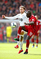Football - 2018 / 2019 Premier League - Liverpool vs. Burnley<br /> <br /> Sadio Mane of Liverpool and Jeff Hendrick of Burnley at Anfield.<br /> <br /> COLORSPORT/LYNNE CAMERON