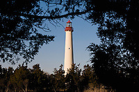 The Cape May Lighthouse located in the town of Cape May Point, NJ, was built in 1859. Owned by the United States Coast Guard, it is still an active aid to maritime navigation. Visitors can climb the 199 steps to the top from spring through the fall season.