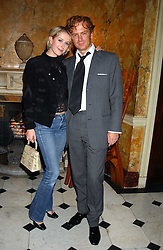 PRINCE VALERIO MASSIMO and MISS ANTONIA HEDLEY-DENT at a party following the TopShop Unique fashion show held at Home House, Portman Square, London on 19th September 2005.<br />