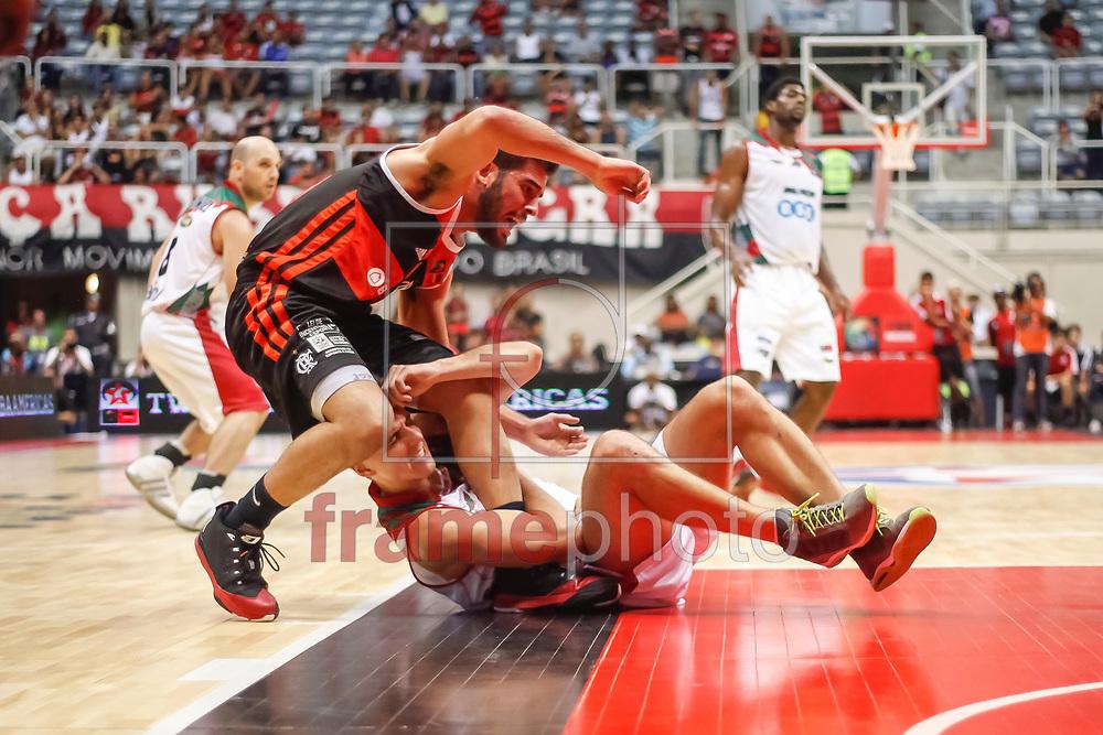 Gege Chaia (e e Rodrigo Trelles (d) partida entre Flamengo x Aguada-URU  válida pela semi final da final four 2014 da Liga das Américas realizada no ginásio do maracanãzinho, zona norte da cidade, Rio de Janeiro, RJ.
