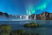 Godafoss waterfall in northeast Iceland.