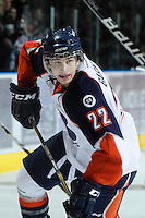 KELOWNA, CANADA, OCTOBER 29: JT Barnett #22 of the Kamloops Blazers skates on the ice Kamloops Blazers visit the Kelowna Rockets  on October 29, 2011 at Prospera Place in Kelowna, British Columbia, Canada (Photo by Marissa Baecker/Shoot the Breeze) *** Local Caption *** JT Barnett;