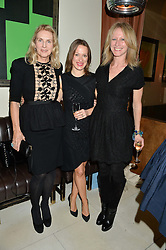 Left to right, GAEL BOGLIONE, VASHTI ARMIT and FIONA SERES at a dinner to celebrate the publication of Obsessive Creative by Collette Dinnigan hosted by Charlotte Stockdale and Marc Newson held at Mr Chow, Knightsbridge, London on 9th February 2015.