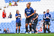 Manchester United Women forward Lauren James (16) warming up during the FA Women's Super League match between Manchester City Women and Manchester United Women at the Sport City Academy Stadium, Manchester, United Kingdom on 7 September 2019.