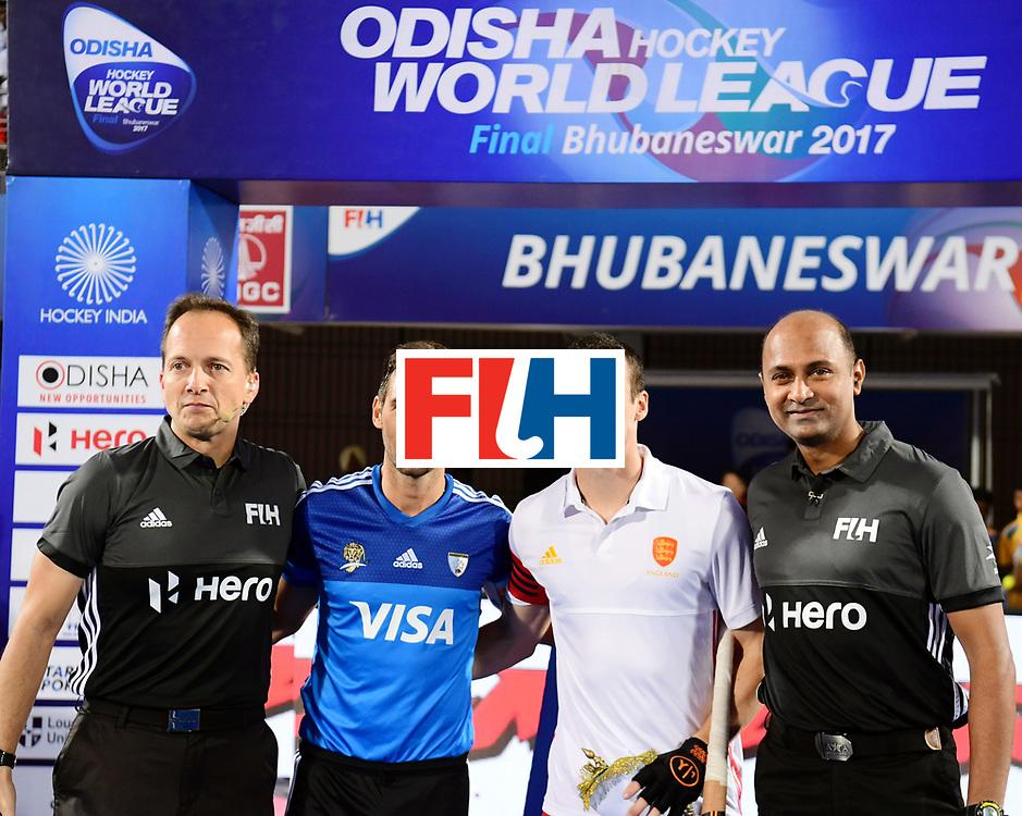 Odisha Men's Hockey World League Final Bhubaneswar 2017<br /> Match id:14<br /> England v Argentina<br /> Foto: Line Up<br /> COPYRIGHT WORLDSPORTPICS FRANK UIJLENBROEK