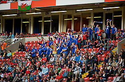 CARDIFF, WALES - Saturday, October 11, 2008: Liechtenstein's supporters during the 2010 FIFA World Cup South Africa Qualifying Group 4 match at the Millennium Stadium. (Photo by David Rawcliffe/Propaganda)