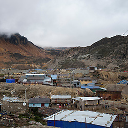 The town of Morococha, in the Peruvian Andes. <br />