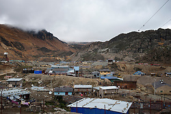 The town of Morococha, in the Peruvian Andes. <br /> <br /> Chinese mining company Chinalco is relocating the residents of Morococha, a 100-year-old mining town in the Peruvian Andes, to make way for Project Toromocho, a massive open pit copper mine.
