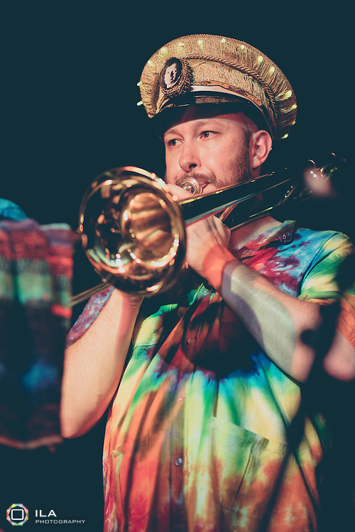 Mr. Wilson's Second Liners playing at Matt and Phreds during the 2014 Manchester Jazz Festival