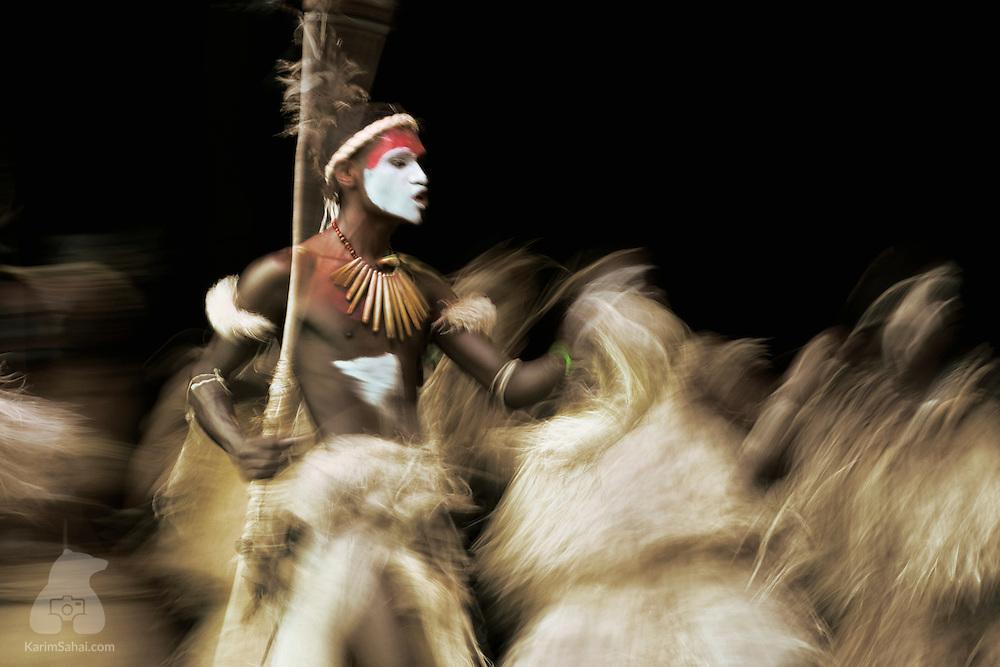 Kanak tribal war dance, Lifou island, New Caledonia
