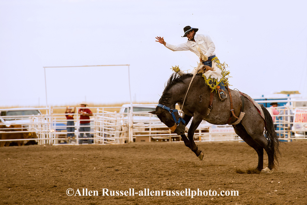 Rocky Boy Rodeo-Saddle Bronc Riding-Rocky Boy Indian Reservation-Montana- Marty Young Bear-Indian Cowboys