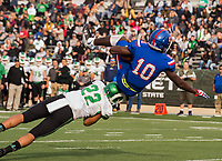 Folsom Bulldogs Joe Ngata (10), runs for a touchdown to lead 21-0 after the point after attempt was good during the first quarter as the Folsom Bulldogs play the St. Mary's Rams in the Sac-Joaquin Section Division I championship game at Hornet Stadium at Sacramento State, Saturday Dec 2, 2017. <br /> photo by Brian Baer