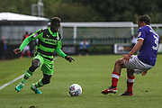 Forest Green Rovers Toni Gomes(25) on the ball during the EFL Sky Bet League 2 match between Forest Green Rovers and Exeter City at the New Lawn, Forest Green, United Kingdom on 9 September 2017. Photo by Shane Healey.