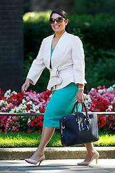 © Licensed to London News Pictures. 19/07/2016. London, UK. International Development Secretary PRITI PATEL attending the first cabinet meeting under Theresa May's leadership in Downing Street on Tuesday, 19 July 2016. Photo credit: Tolga Akmen/LNP