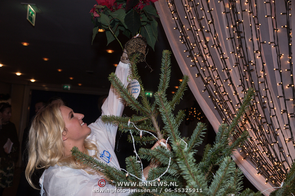 NLD/Hilversum /20131210 - Sky Radio Christmas Tree For Charity 2013, Britt Dekker versierd haar boom