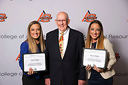 Mable and Houston Ward, Sr Memorial Endowed Scholarship recipient, Hope Onstot and Faith Onstot.