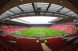 LIVERPOOL, ENGLAND - Saturday, March 15, 2008: A general view of Anfield from the Spion Kop. (Photo by David Rawcliffe/Propaganda)